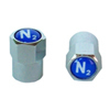 Valve Stem Caps for Nitrogen Tire Inflation Blue N2 (100 Pack)