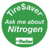 Parker TireSaver Ask Me About Nitrogen Buttons