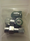 Nitrogen Tire Inflation Pre Packaged Cap Kits (Min Order 50)