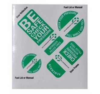 Nitrogen Tire Inflation GNI Pre-Load Stickers (100 Pack)