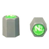 N2 Nitrogen Tire Inflation Grey TPMS Tire Valve Caps (100)
